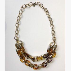 Banana Republic Tortoise Gold Link Necklace
